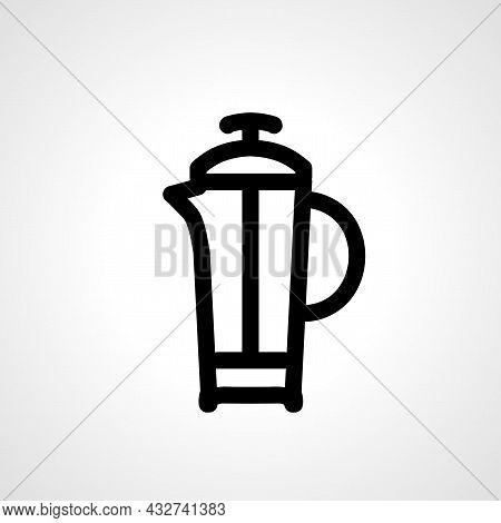 Tea Kettle Vector Line Icon. Tea Kettle Linear Outline Icon.