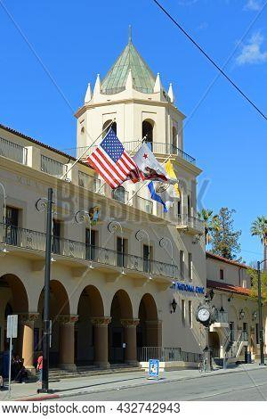 San Jose, Ca, Usa - Mar. 12, 2014: San Jose Civic Building Is A Historic Municipal Auditorium And No