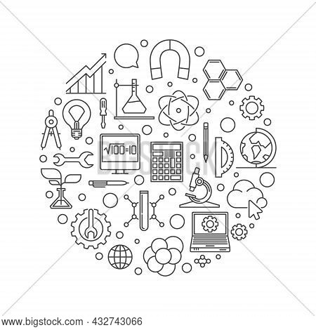 Stem - Science, Technology, Engineering And Math Vector Banner