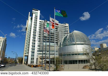 San Jose, Ca, Usa - Mar. 10, 2014: San Jose City Hall With Postmodern Style Is Located At 200 East S