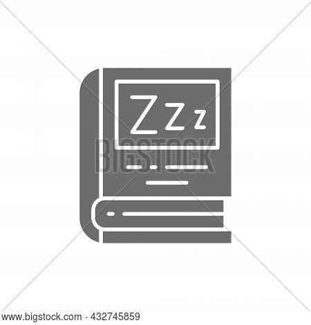 Vector Book For Bedtime Reading Grey Icon.
