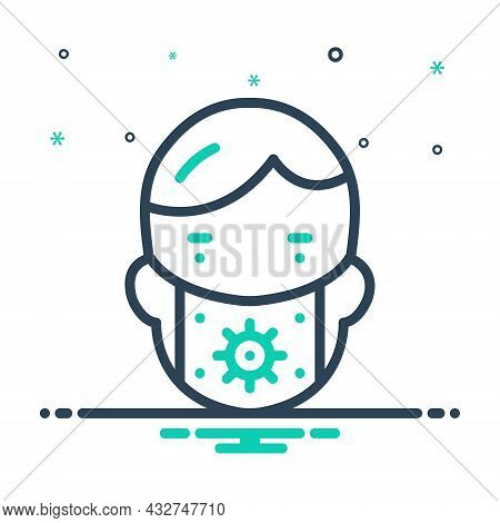 Mix Icon For Preserve Mask People Conserve Defend Keep Perpetuate Face-mask Protect Safeguard Secure