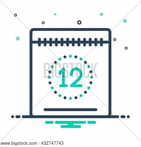 Mix Icon For Today This-day Date Calendar Countdown Day Timetable Appointment Valuating