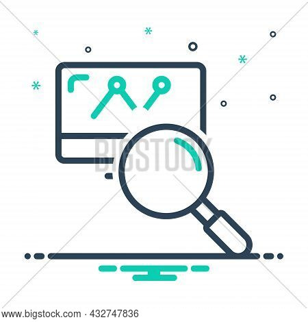 Mix Icon For Research Investigation Inquiry Finding Market Analysis Statistics Magnifying Discovery