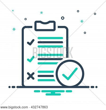 Mix Icon For Survey Analysis Check Inquiry Review Report List Clipboard Document Note Paper Form