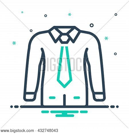 Mix Icon For Formal Dress Tie Wear Fashion Clothes Uniform Togs Suit Male Costume Habiliments Wearab