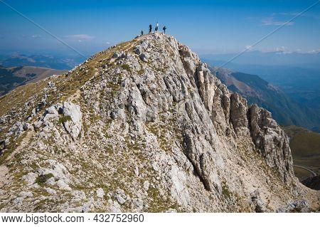View Of The Summit Of Terminilletto Peak In Lazio