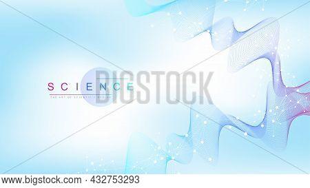 Scientific Vector Illustration Genetic Engineering, Dna Helix, Dna Strand, Molecule Or Atom, Neurons