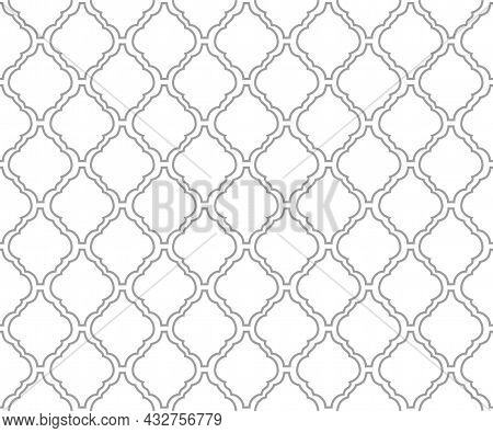 Arabesque Tile Background For Islamic Or Moroccan Style Fabric Textile Seamless Backdrop Vector Illu