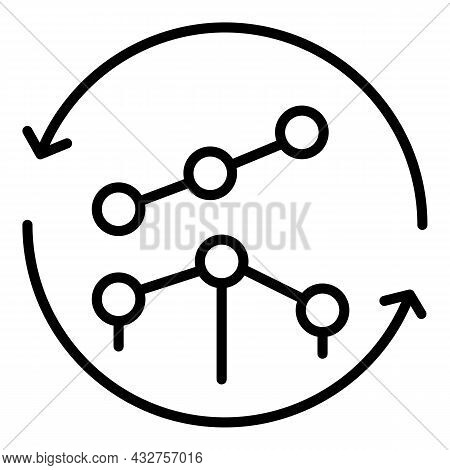 Complex Strategy Icon Outline Vector. Business Skill. Management Goal