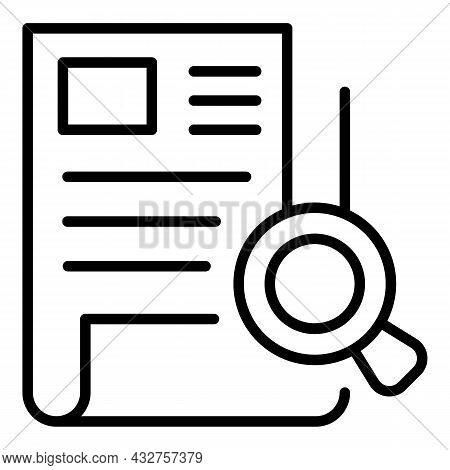 Cv Analysis Icon Outline Vector. Job Curriculum. Review Resume