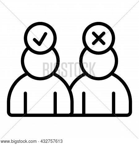 Person Seeking Job Icon Outline Vector. Seek People. Magnet Employee