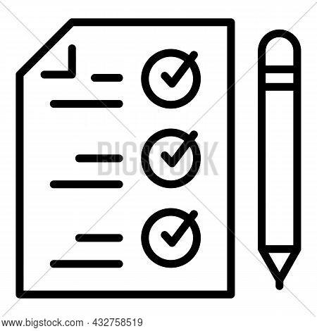 Cv Checklist Icon Outline Vector. List Interview. Hr Biography