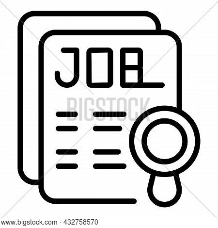 Job Paper Icon Outline Vector. Work Document. Businessman Strategy