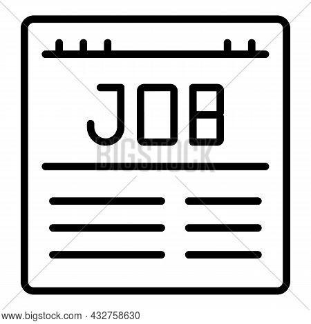 Job Web Page Icon Outline Vector. Landing Website. Laptop Site