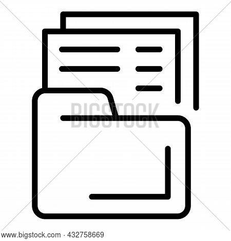 File Folder Icon Outline Vector. Organize Document. Web Paper