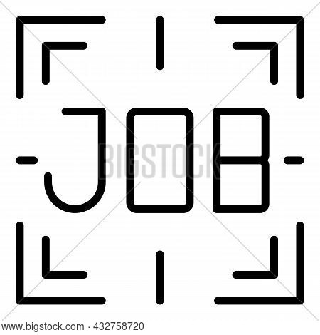 Job Seek Icon Outline Vector. Search Business. Find Employee