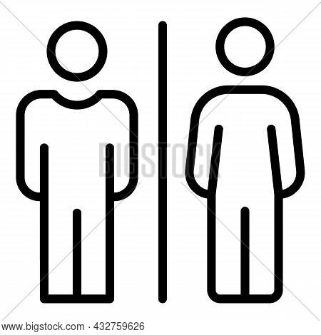 Sexual Equality Icon Outline Vector. Gender Discrimination. Human Rights