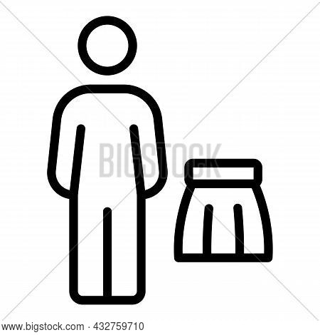 Social Male Stereotype Icon Outline Vector. Gender Discrimination. Career Inequality