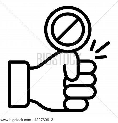 Stop Stereotypes Icon Outline Vector. Ageism Prejudice. Gender Discrimination