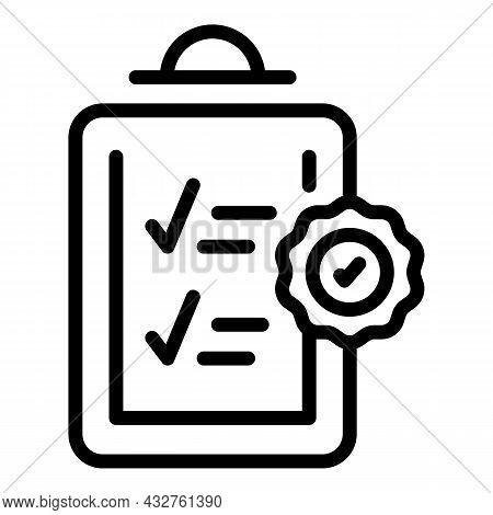 Checklist Icon Outline Vector. Check List. Mark Clipboard