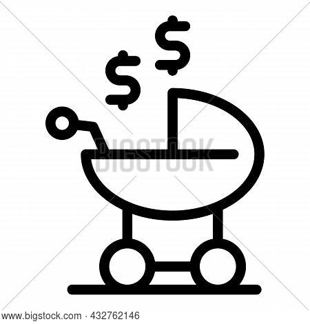 Baby Pram Icon Outline Vector. Stroller Carriage. Infant Buggy