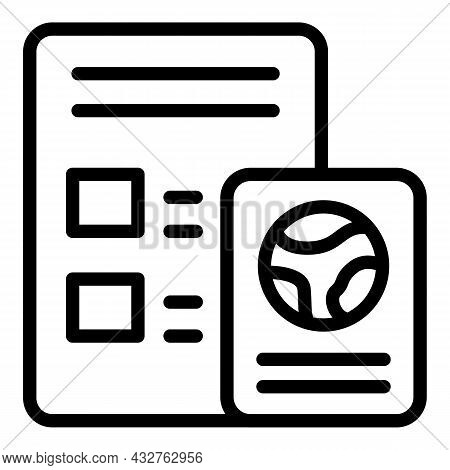 Election Paper Icon Outline Vector. Ballot Vote. Referendum Box