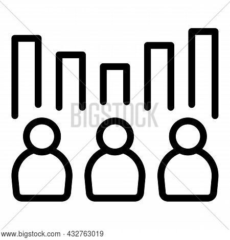 Voting Results Icon Outline Vector. Election Vote. Online Choice
