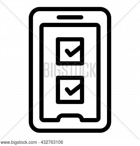 Online Voting Icon Outline Vector. Election Vote. Digital Ballot