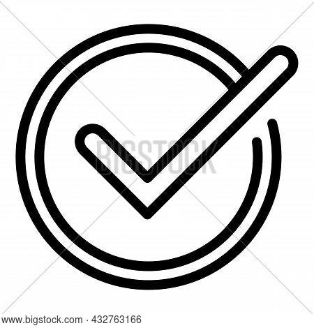Voting Tick Icon Outline Vector. Ballot Vote. Election Poll