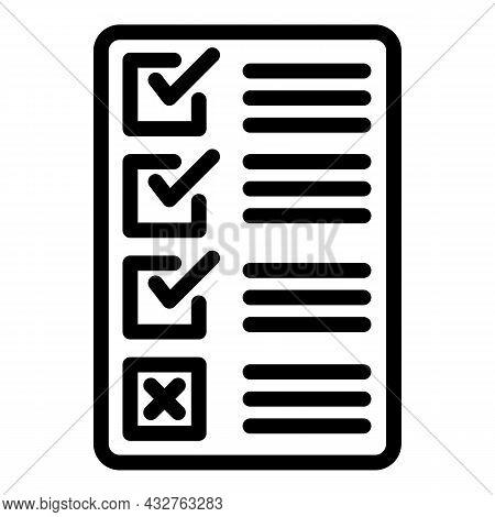 Election Bulletin Icon Outline Vector. Vote Box. Online Ballot