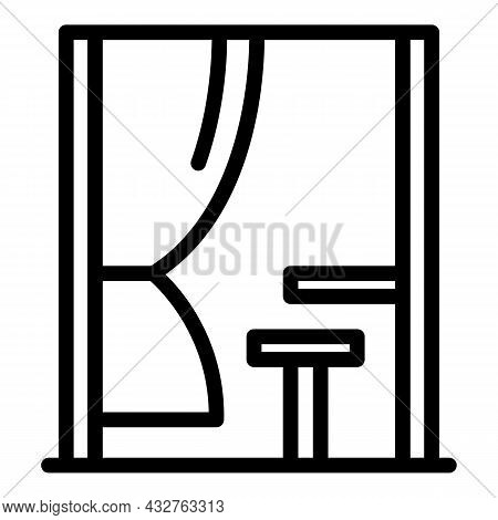 Voting Booth Icon Outline Vector. Election Vote. People Ballot