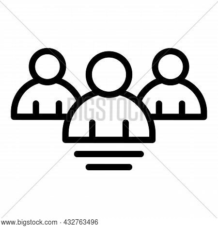 Election Candidate Icon Outline Vector. People Vote. Politician Ballot
