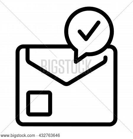 Voting Envelope Icon Outline Vector. Vote Ballot. Election Box