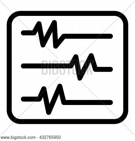 Heart Rate Monitor Icon Outline Vector. Cardiac Beat. Medicine Pulse