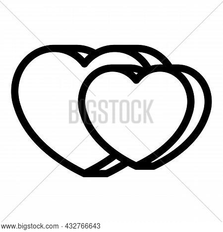 Healthy Hearts Icon Outline Vector. Keep Heart. Love Gratitude