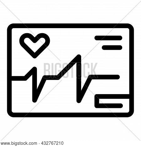 Cardiogram Paper Icon Outline Vector. Ecg Heart. Beat Electrocardiagram