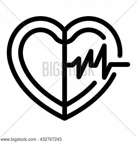 Healthy Heart Icon Outline Vector. Medical Cardiac. Human Organ