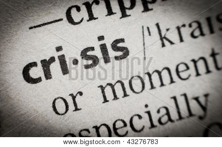 Wort Krise, Glossar, Makro