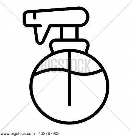 Water Hair Spray Icon Outline Vector. Bottle Mist. Cosmetic Deodorant