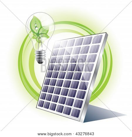 Eco lightbulb with solar panel