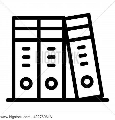 Office Folder Icon Outline Vector. Binder File. Ring Shelf