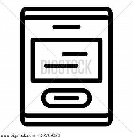 Scan Wall Device Icon Outline Vector. Mri Door. Room Machine