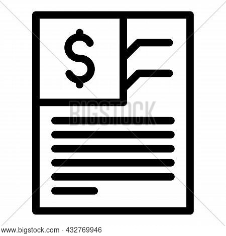 Invoice Paper Icon Outline Vector. Bill Payment. Business Receipt