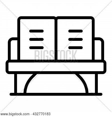 Outdoor Sofa Icon Outline Vector. Garden Chair. Lounge Furniture