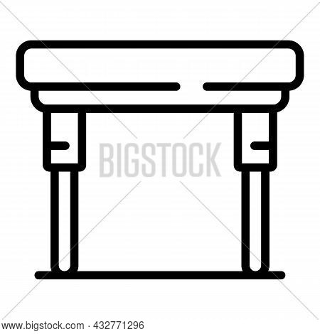 Iron Table Icon Outline Vector. Foldable Table. Compact Picnic
