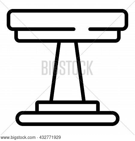 Round Picnic Table Icon Outline Vector. Wooden Kitchen. Garden Chair