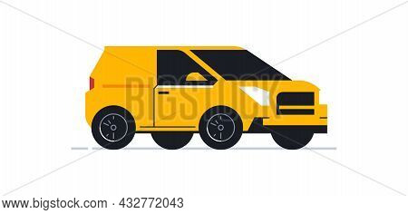 Car For An Online Delivery Service For Parcels And Food To Your Home. Transport For Delivering Parce