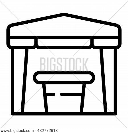 Party Tent Icon Outline Vector. Garden Pavilion. Outdoor Canopy