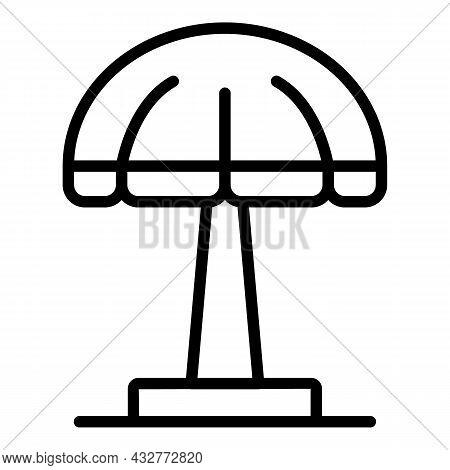 Garden Umbrella Icon Outline Vector. Outdoor Parasol. Furniture Sunshade
